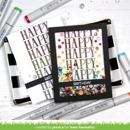 Happy Birthday by Jessica Frost-Ballas for Lawn Fawnatics
