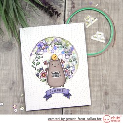Thanks Light-Up Shaker card by Jessica Frost-Ballas for Chibitronics