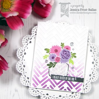 Jessica Jar of Flowers Diamond Chevron Ill be brief