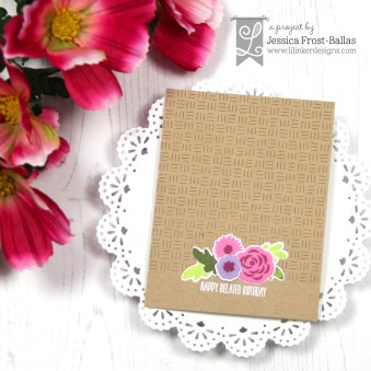 Jessica Jar of Flowers Quilted Stitched Basket Weave Ill be brief