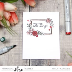 Enjoy the Little Things by Jessica Frost-Ballas for A Blog Named Hero