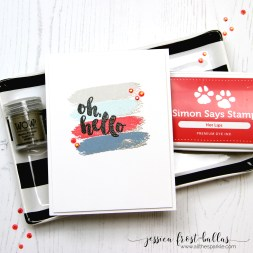 Oh Hello by Jessica Frost-Ballas for Simon Says Stamp