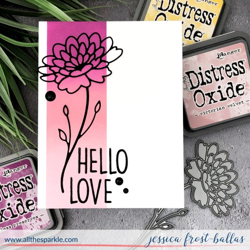 Hello Love by Jessica Frost-Ballas for Simon Says Stamp