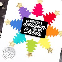 VIDEO: Rainbow Christmas Cards with Cardstock Scraps - Hero Arts October 2020 My Monthly Hero Blog Hop (+GIVEAWAY!)
