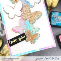 VIDEO: Easy Distress Ink Watercolor Background - Waffle Flower May Release Blog Hop (+GIVEAWAYS!)