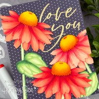 VIDEO: Copic Coloring on Die Cuts - Honey Bee Stamps Summer Stems Video Hop (+GIVEAWAYS!)