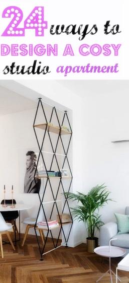 24 ways to design a cosy studio apartment interiors