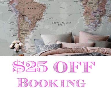 25 dolars off booking.com