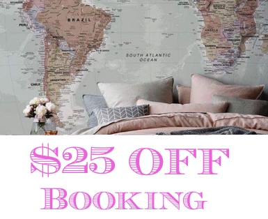 25 dolars off booking.com
