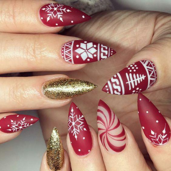 27 Christmas Nail Designs - 27 Christmas Nail Designs - Festive Nail Art Ideas