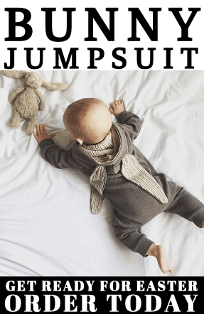 bunny jumpsuit, baby romper