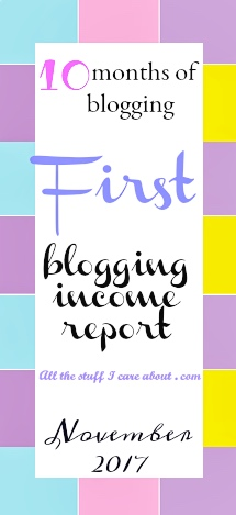 first blogging income report