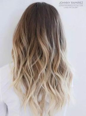 Ideas to go blonde - Icy long ombre