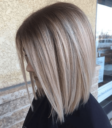 Ideas to go blonde - Icy short balayage