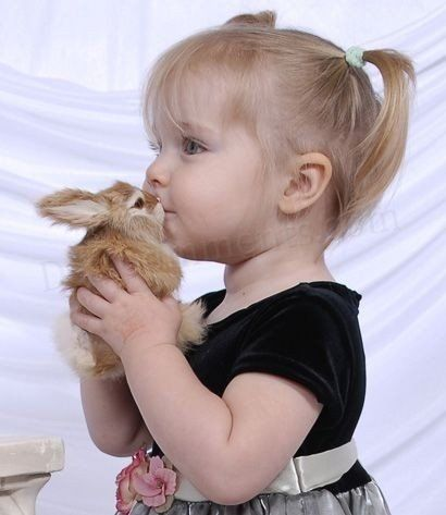 kids and bunnies kisses