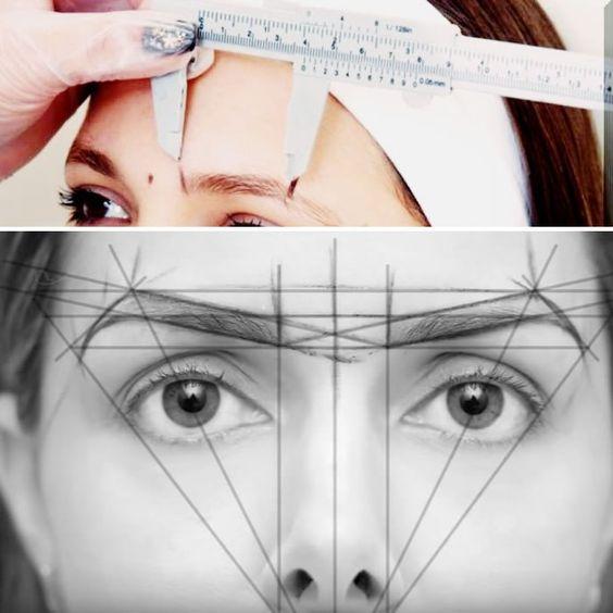 symetrical brow ruler