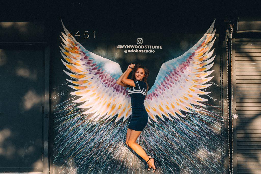 happy angel wings wynwood art district