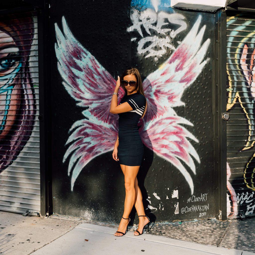 miami wynwood photoshoot angel wings