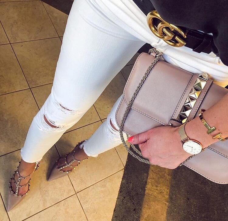 valentino garavani rockstud heels luxury brown
