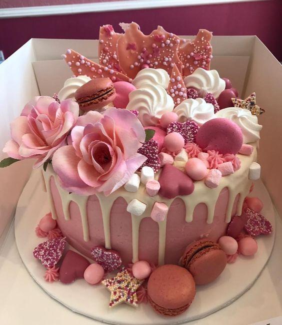 macaron cake, birthday cake, drip cake, ice cream birthday cake, pastel birthday cake, unicorn cake, birthday celebrations, epic cake, awesome birthday cake, girly birthday cake