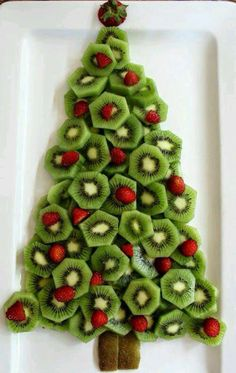 christmas tree party fruit plater