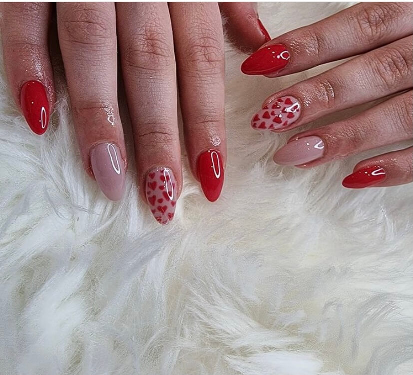 classic red nails ideas manicure