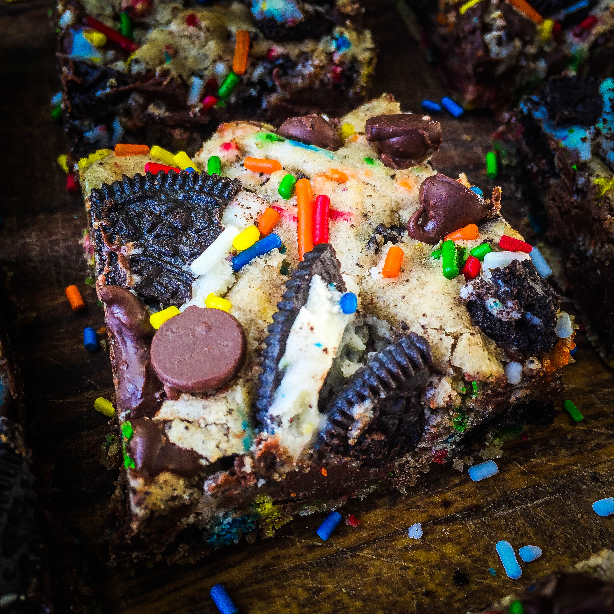 Chocolate Chip Oreo Birthday Cake Bars All the Sweets