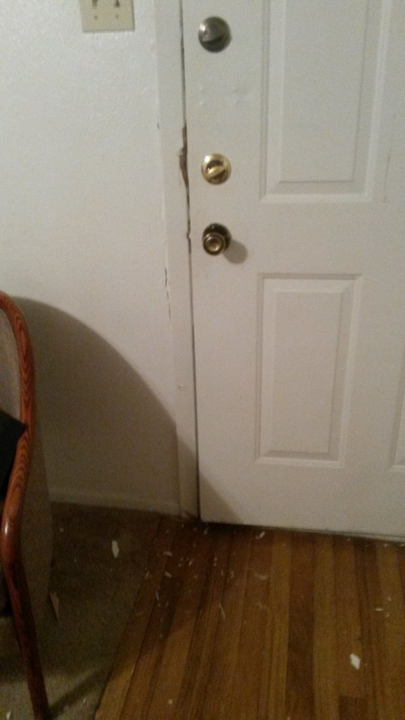 The door damage