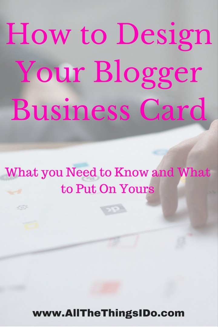 How to Design Your Blogger Business Card