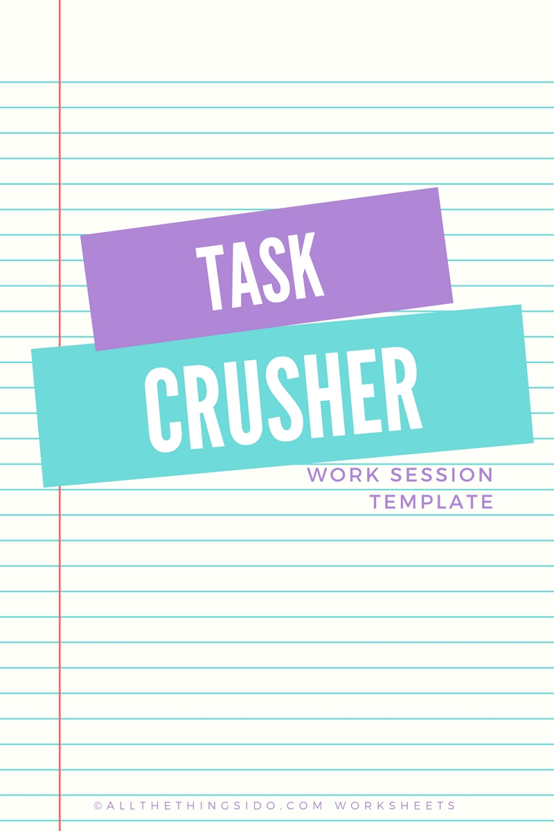 Task Crusher Worksheet