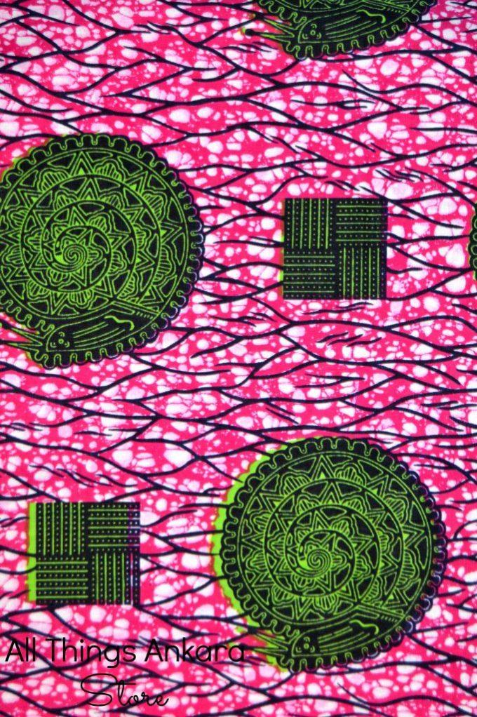 Pink & Green Ejuna Wax Prints