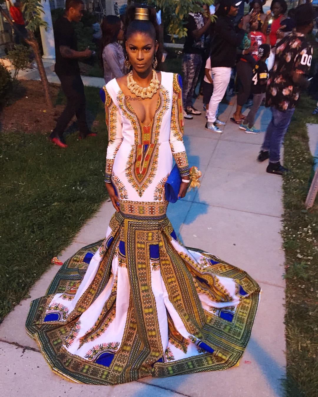 Prom: Ashley Boykin's DaJon J. Dashiki Gown