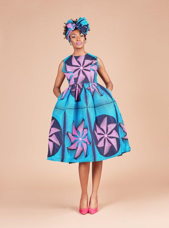 Ankara Product Of The Day Ugonna Midi Dress By Ace Kouture