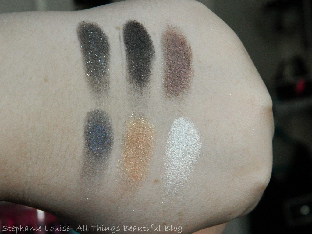 NYX Smokey Palette Swatches & ReviewvNYX Smokey Palette Swatches & Review