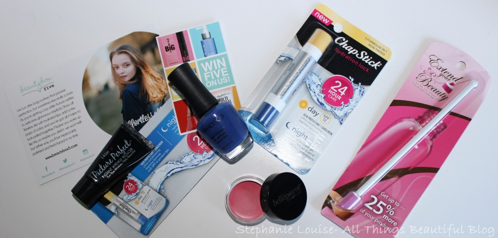 Beauty Box 5 for October 2014 featuring Chapstick, Nanacoco, & More!