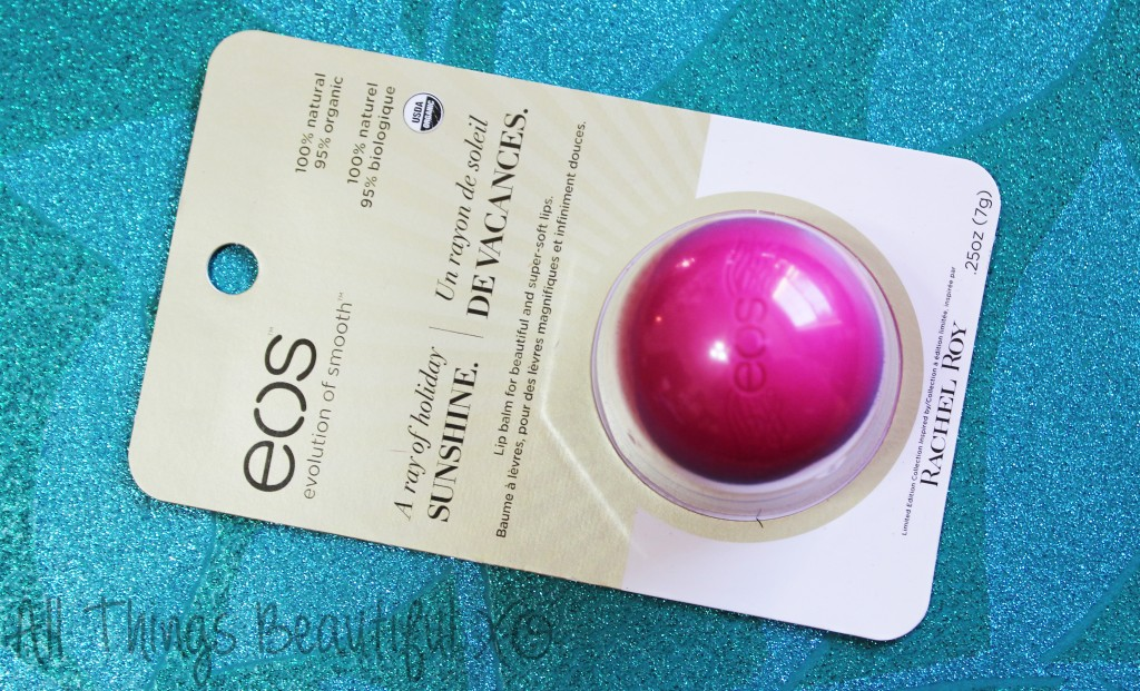 EOS Limited Edition Lip Balm in Barbados Heat Review, Packaging, & Ingredients