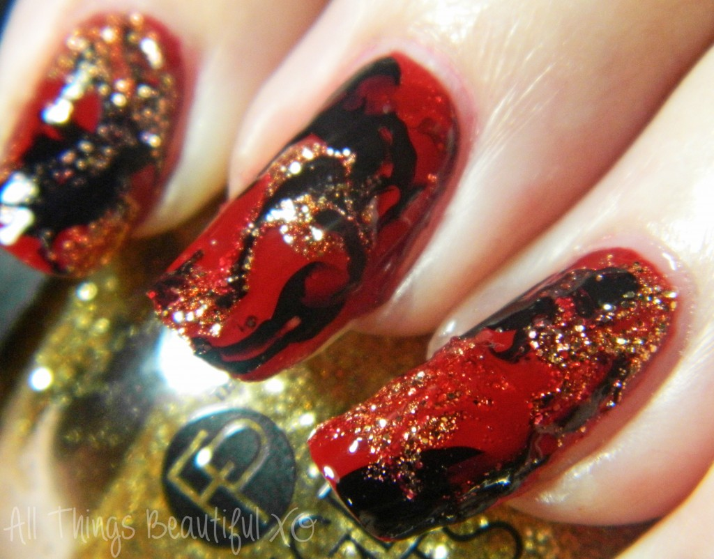 B is for Bold with Finger Paints Patent Polishes! from All Things Beautiful XO