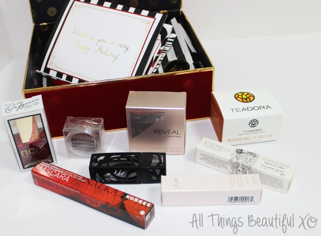 Glossybox for December 2014 featuring OCC, Jouer, & More! from All Things Beautiful XO