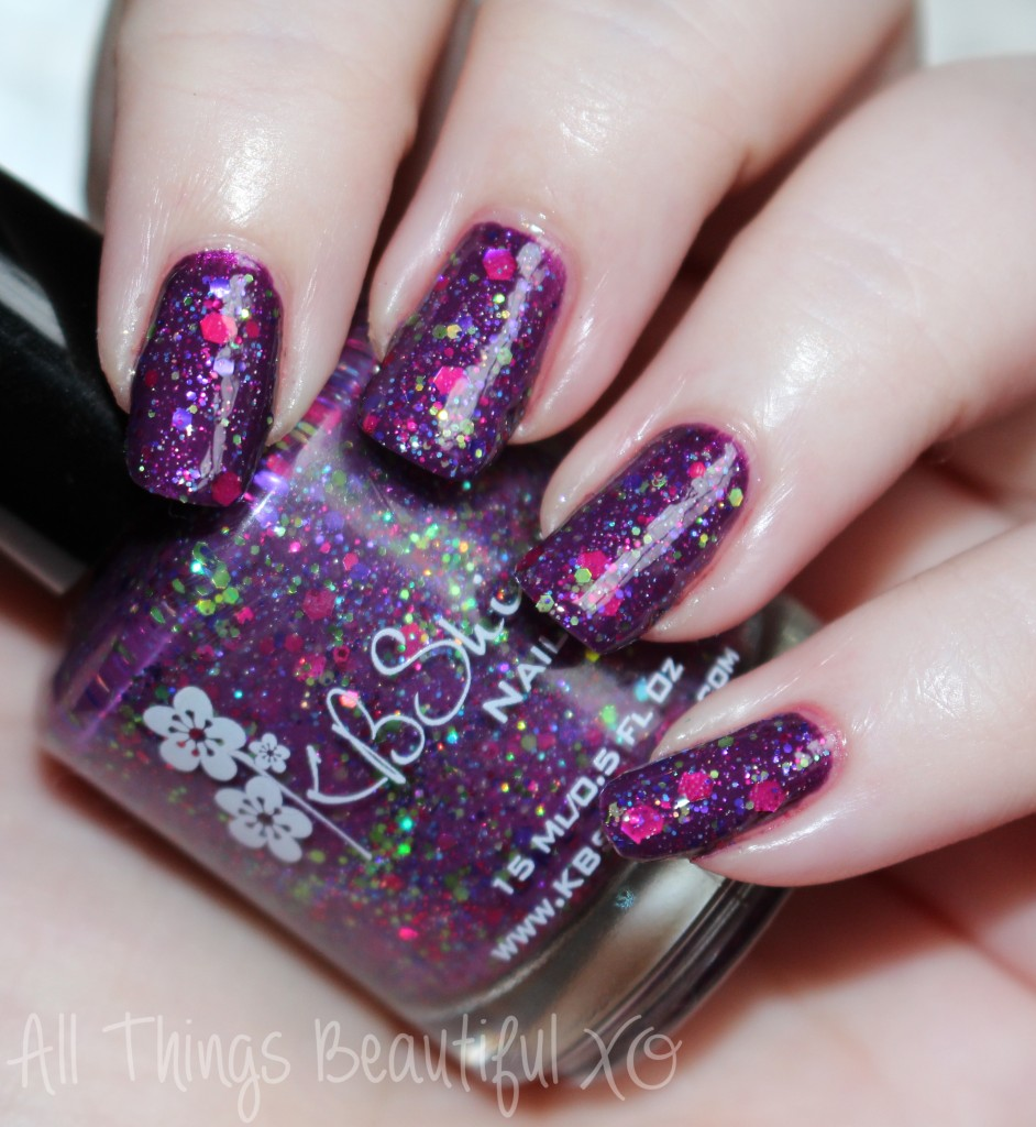 Sugar Plum Faerie from the KBShimmer Holiday Nail Polishes for Winter 2014 Swatches & Review on All Things Beautiful XO