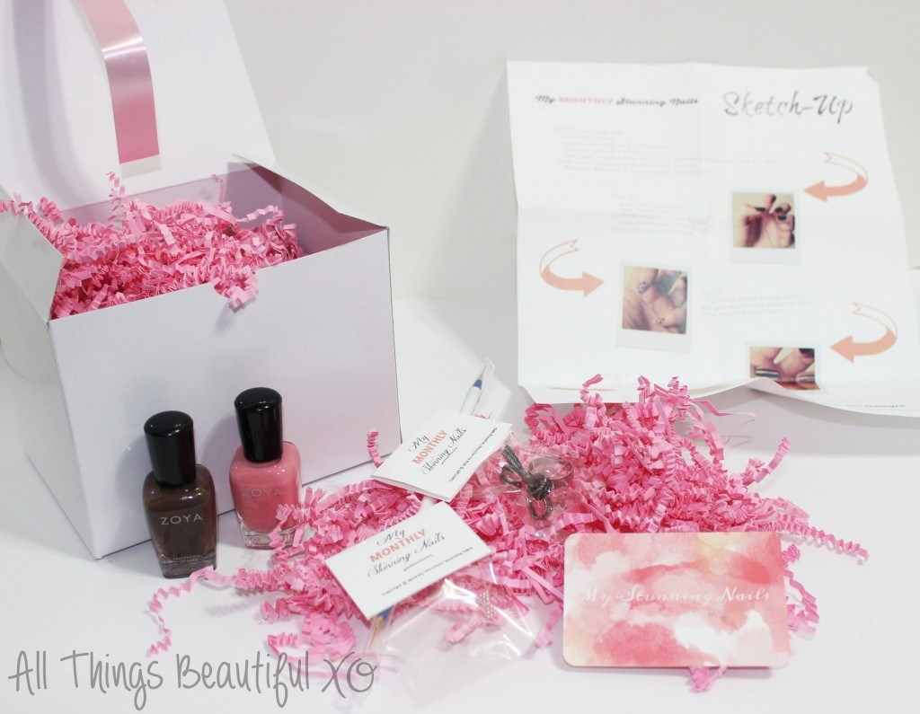 My Stunning Nails November 2014 Nail Art Box + Girly Design from All Things Beautiful XO