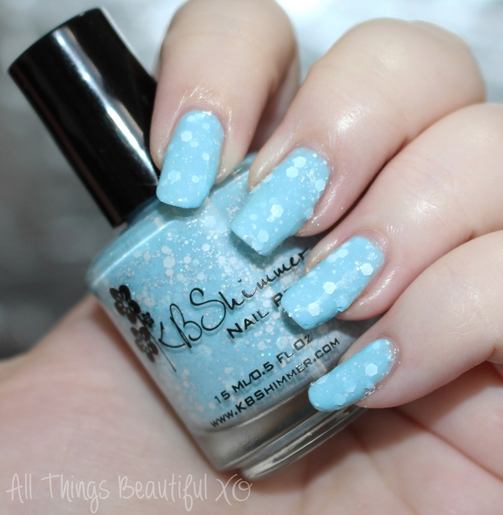 Kbshimmer Snow Way White Here White Now Swatches Flocked Nail Art
