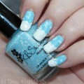 KBShimmer Snow Way! & White Here, White Now Swatches & Flocked Nail Art