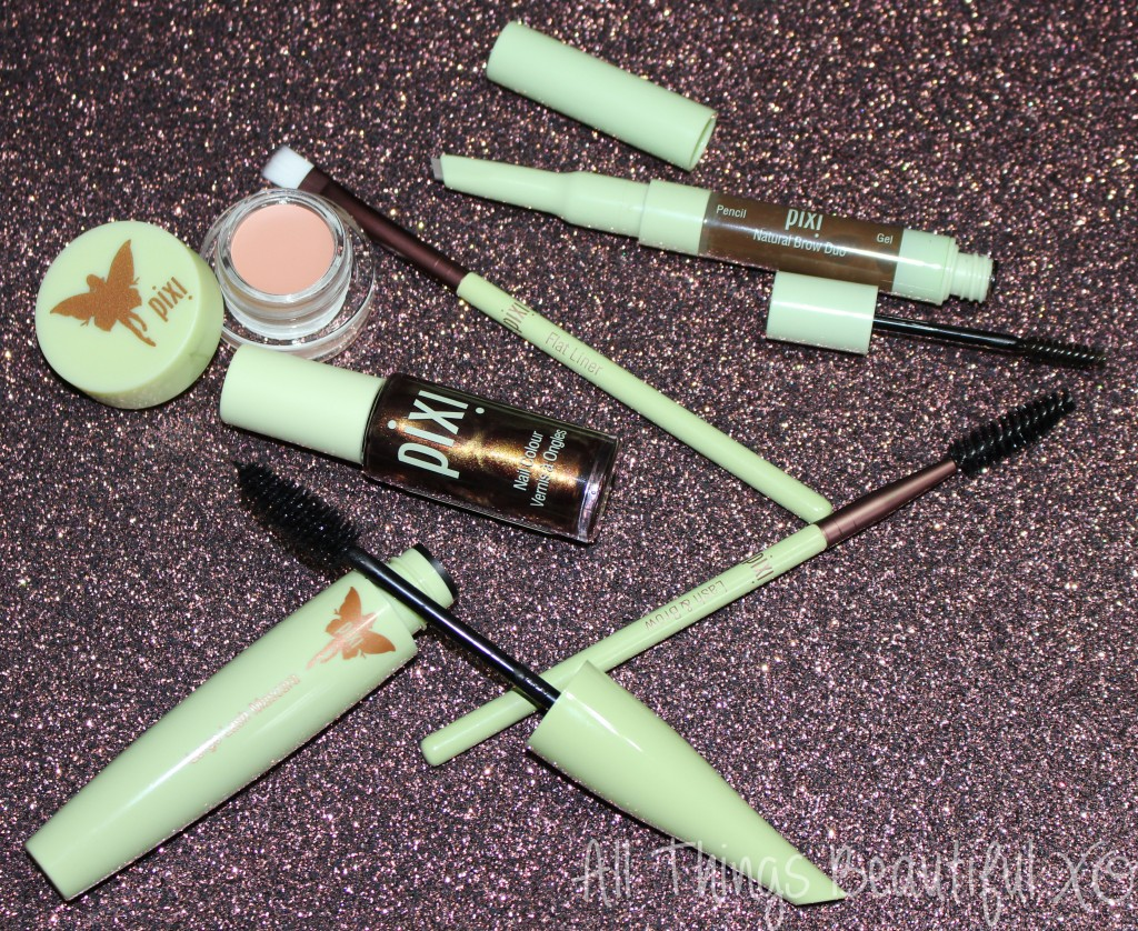 Getting Pretty with Pixi Beauty- Brows, Undereyes, & More! with products for nails, brows, undereyes, & tools from All Things Beautiful XO