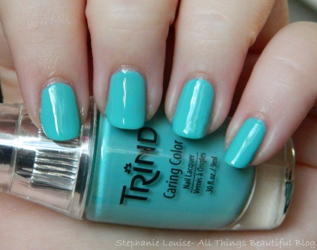 Trind Caring Color Nail Polish in Mint Julep from All Things Beautiful XO