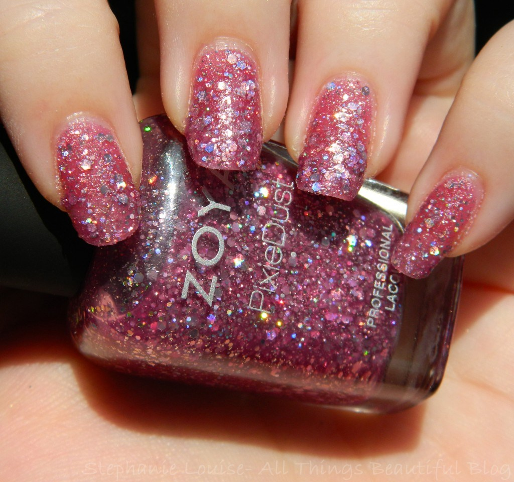 Zoya Summer 2014 Pixie Dust Trio Textured Holo Nail Polishes Swatches & Review- This is Zoya Arlo from All Things Beautiful XO