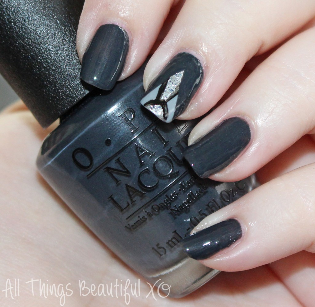50 Shades of Grey Nail Art featuring OPI- Jamie Dornan's Suit & Tie from All Things Beautiful XO