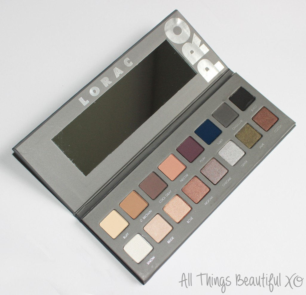 LORAC Pro 2 Palette Swatches, Review, & Eyeshadow Look from All Things Beautiful XO