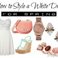 How to Style a White Dress for Spring- Spring Trends & Fashion Tips! Colored Suede, Fun Stripes, & More! from All Things Beautiful XO
