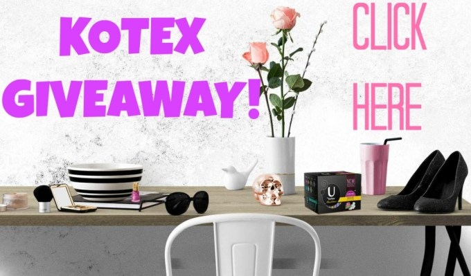 Kotex Giveaway on All Things Beautiful XO