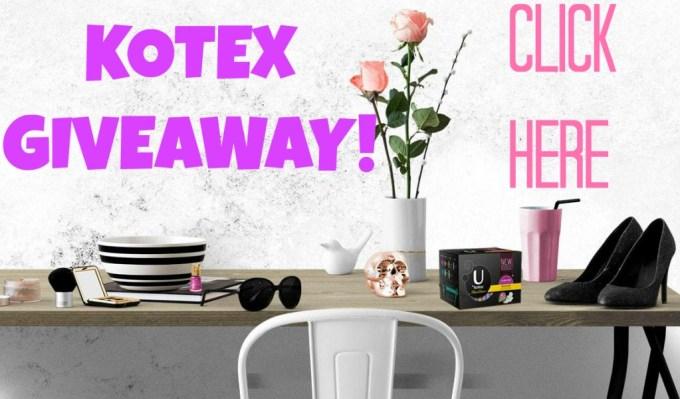 Kotex Giveaway on All Things Beautiful XO